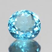 ok. 1,415ct/1szt. -SWISS BLUE TOPAZ NAT.- 7,10x7,10/3,50mm okrągły