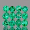 SZMARAGD NAT.-  2,5mm okrągły, średnio 0,067ct /1szt.