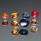 set szafirów do artystycznej biżuterii ok. 2,565ct/8szt. - SZAFIR NAT.- 3,5-5,5 okrągły