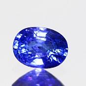 ok. 1,105ct/1szt. -CEJLOŃSKI CORNFLOWER BLUE SZAFIR NAT.- 6,90x5,15/3,58mm owal