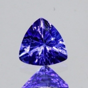 ok. 0,445ct/szt. -IDEALNY  TANZANIT NAT.- 4,91x4,93/3,02mm trilion