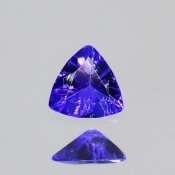 ok. 0,145ct/szt. -IDEALNY  TANZANIT NAT.- 3,77x3,80/1,76mm trilion
