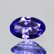 ok. 0,42ct/szt. -IDEALNY  TANZANIT NAT.- 6,01x3,79/2,44mm owal