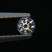 0,18 ct ~ d3,6mm ~ diament biały, szlif okrągły brylantowy ~ barwa GH ~ czystość SI