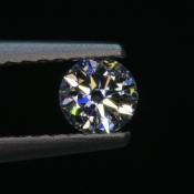 0,25 ct ~ d4,0mm ~ diament biały, szlif okrągły brylantowy ~ barwa GH ~ czystość SI
