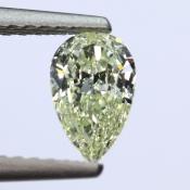 0,5 ct ~ 7.21 x 4.47 x 2.41 mm ~ diament barwny, szlif gruszka brylantowy ~ barwa U-V ~ czystość VS2