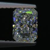 1,01 ct ~ 6.81 x 4.90 x 3.37 mm ~ diament biały, szlif radiant brylantowy ~ barwa G ~ czystość SI2