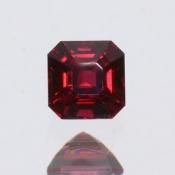 ok. 0,41ct/szt. - SPINEL NAT.- 3,96x3,90/3,17mm kwadrat
