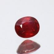 ok. 0,535ct/szt. -royal red NIEPOPRAWIANY RUBIN NAT.- 5,04x4,32/2,79mm owal