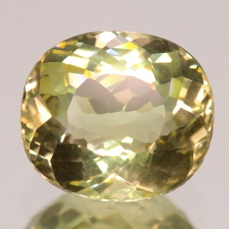 ok. 3,665ct/szt. - HELIODOR NAT.- 9,52x8,51/5,23mm owal