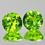 ok. 2,95ct/1para -PIĘKNA PARA OLIWIN NAT.-  6,9x6,9mm 4,5mm głęb. okrągły