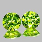 ok. 3,425ct/1para -PIĘKNA PARA OLIWIN NAT.- kalibrowany 7x7mm 5mm głęb. (?0,05mm) owal