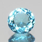 ok. 1,5ct/1szt. -SWISS BLUE TOPAZ NAT.- 7,18x7,08/3,82 okrągły