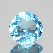 ok. 1,24ct/1szt. -SWISS BLUE TOPAZ NAT.- 7,05x6,90/3,60mm okrągły