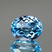ok. 3,905ct/1szt. - TOPAZ NAT.- 10,01x7,98/6,34mm owal