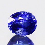 ok. 1,09ct/1szt. -ROYAL BLUE SZAFIR NAT.- 5,92x4,93/4,21mm owal