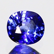 ok. 1,21ct/1szt. -ROYAL BLUE SZAFIR NAT.- 6,42x5,76/3,65mm owal