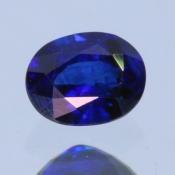 ok. 0,485ct/szt. -ROYAL BLUE SZAFIR NAT.- 5,12z3,95/2,68mm owal