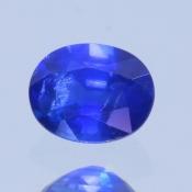 ok. 0,435ct/szt. -ROYAL BLUE SZAFIR NAT.- 4,96x3,89/2,60mm owal