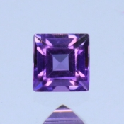 ok. 0,14ct/szt. - AMETYST NAT.- 3x3mm kwadrat