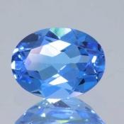 ok. 1,305ct/szt. -SWISS BLUE TOPAZ NAT.- 7,98x6,03/3,47mm owal