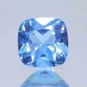ok. 1,08ct/szt. -SWISS BLUE TOPAZ NAT.- 5,99x6,11/3,67mm antyk